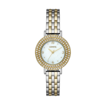 Geneva Womens Gold Tone Bracelet Watch-Fmdjm190