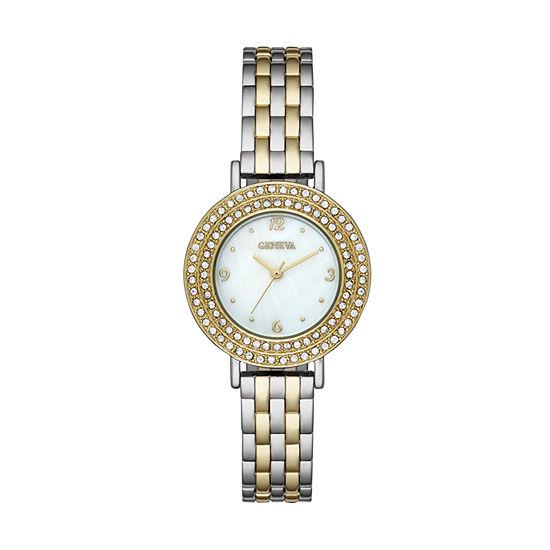 Geneva Womens Gold Tone Bracelet Watch-Fmdjm190
