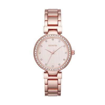 Geneva Womens Rose Goldtone Bracelet Watch-Fmdjm191