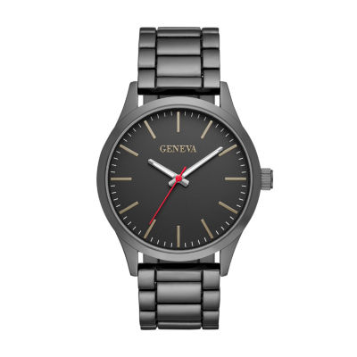 Geneva Mens Black Strap Watch-Fmdjm584