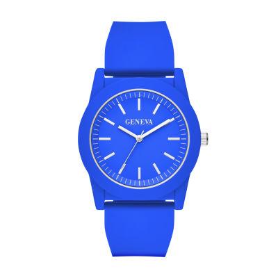 Geneva Mens Blue Strap Watch-Fmdjm593