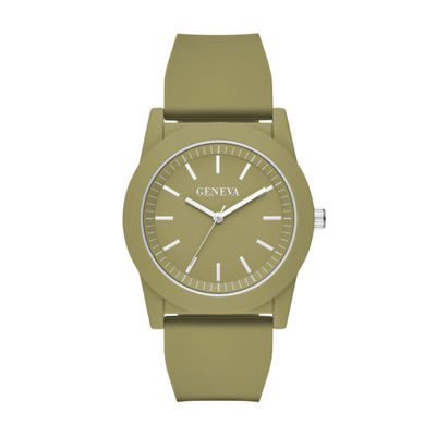 Geneva Mens Green Strap Watch-Fmdjm594