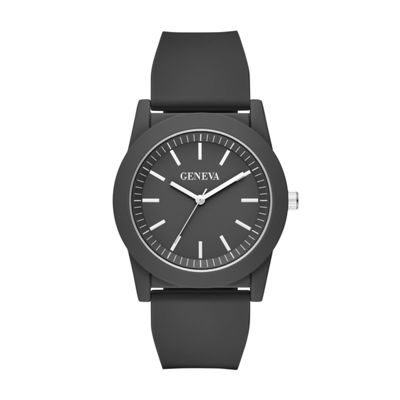 Geneva Mens Black Strap Watch-Fmdjm595