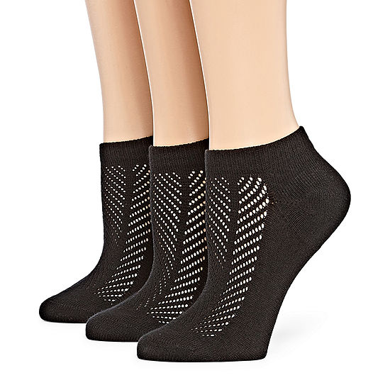 Berkshire 3 Pair Non Binding Sporty Low Cut Socks - Womens
