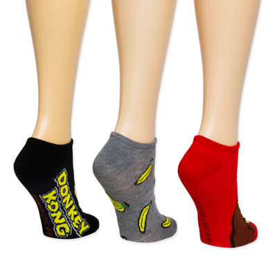 Donkey Kong No Show Socks - Womens