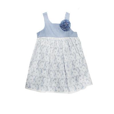 Marmellata Stripe Lace Dress - Baby Girls