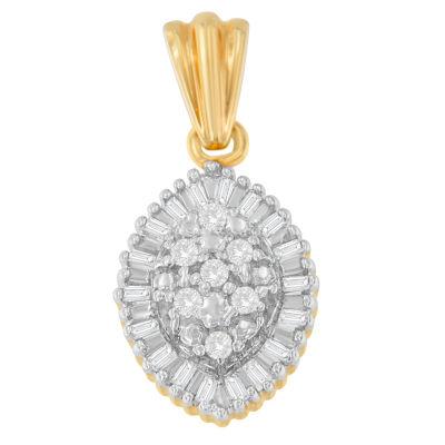 Womens 1/4 CT. T.W. White Diamond Pendant Necklace