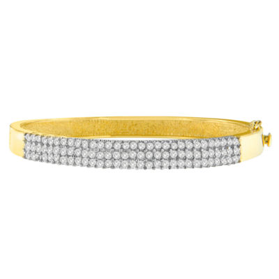 2 CT. T.W. White Diamond 14K Gold Bangle Bracelet