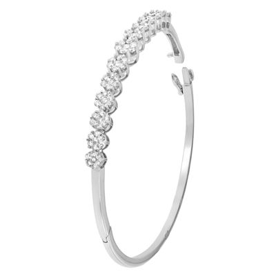 2 1/2 CT. T.W. White Diamond 14K Gold Bangle Bracelet