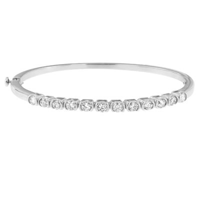 1 3/4 CT. T.W. White Diamond 14K Gold Bangle Bracelet