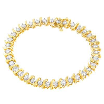 10K Gold 7 Inch Solid Link Link Bracelet