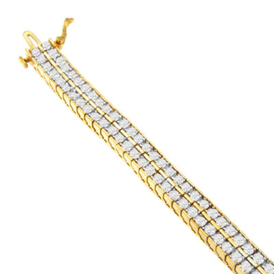 5 CT. T.W. White Diamond 10K Gold 7 Inch Tennis Bracelet