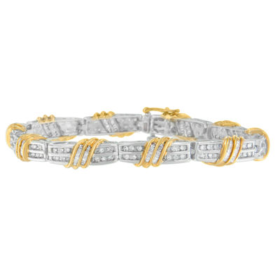 2 CT. T.W. White Diamond 10K Gold 7 Inch Tennis Bracelet