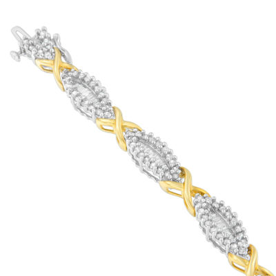 3 CT. T.W. White Diamond 10K Gold 7 Inch Tennis Bracelet