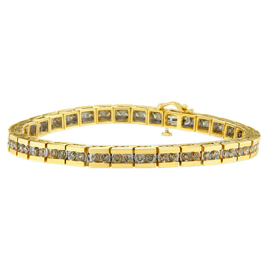 5 CT. T.W. Genuine White Diamond 10K Gold 7 Inch Tennis Bracelet