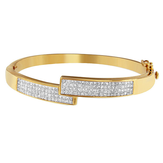 Jcpenney Gold Bracelets: 3 1/4 CT. T.W. White Diamond 14K Gold Bangle Bracelet