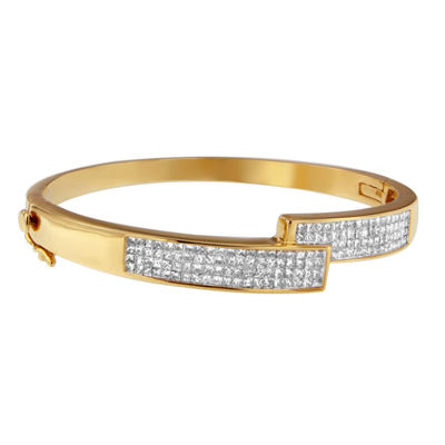 3 1/4 CT. T.W. White Diamond 14K Gold Bangle Bracelet