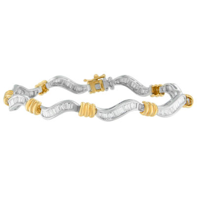 Womens 2 CT. T.W. White Diamond 10K Gold Tennis Bracelet