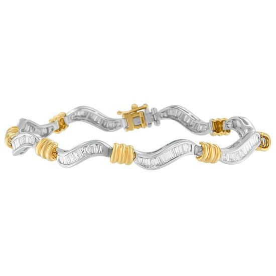 2 CT. T.W. Genuine White Diamond 10K Gold 7 Inch Tennis Bracelet