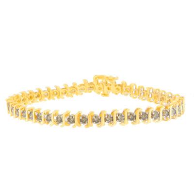 4 CT. T.W. Champagne Diamond 10K Gold 7 Inch Tennis Bracelet