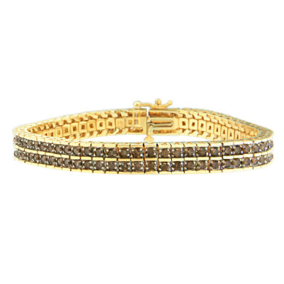 Womens 5 CT. T.W. Champagne Diamond 10K Gold Tennis Bracelet