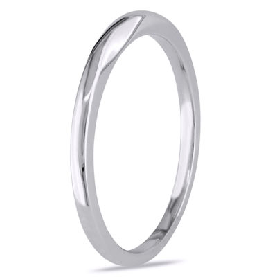 Womens 10K White Gold Wedding Band