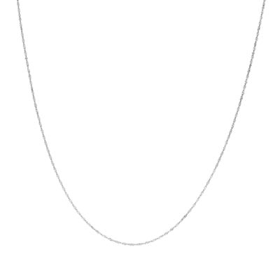 14K White Gold Solid Cable 18 Inch Chain Necklace