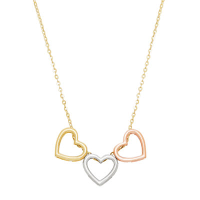 Infinite Gold Womens 14K Gold Heart Pendant Necklace