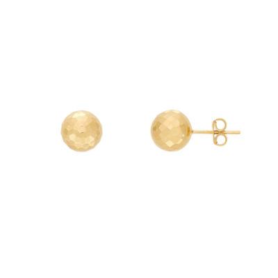 Infinite Gold 14K Gold 9.5mm Stud Earrings