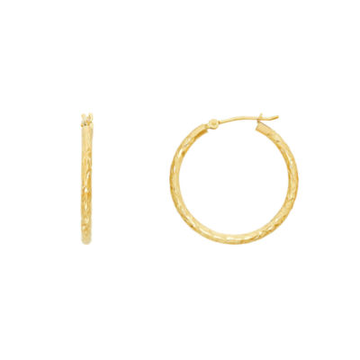 Infinite Gold 14K Gold 25mm Hoop Earrings