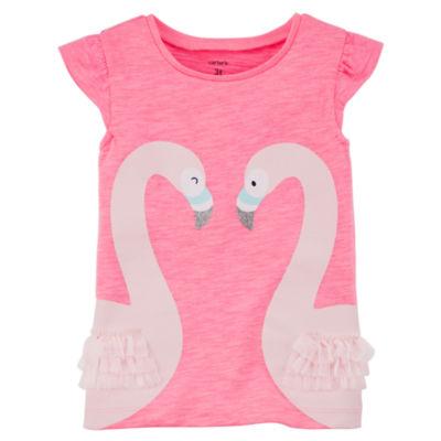 Carter's Pink Flamingo Short Sleeve Tee - Toddler Girl 2T-5T