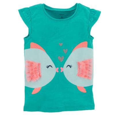 Carter's Kissing Fish Short Sleeve Tee - Toddler Girl 2T-5T