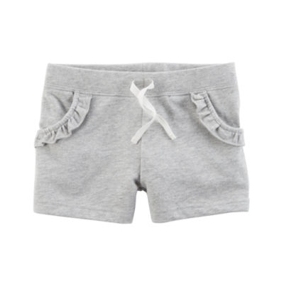 Carter's Ruffle Pocket Detail Knit Shorts - Preschool Girls