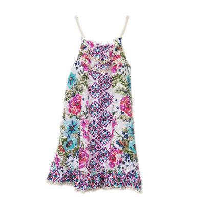 Lilt Sleeveless Pattern A-Line Dress Girls
