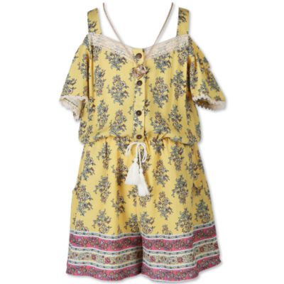 Speechless Short Sleeve Romper - Big Kid