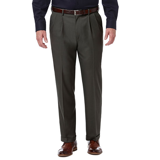 Haggar Premium Comfort Dress Pant Classic Fit Pleated