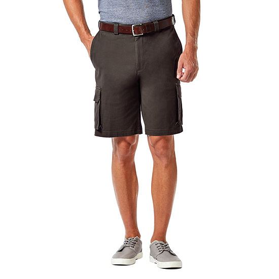 Haggar® Stretch Cargo With Tech Pocket Classic Fit Flat Front Short
