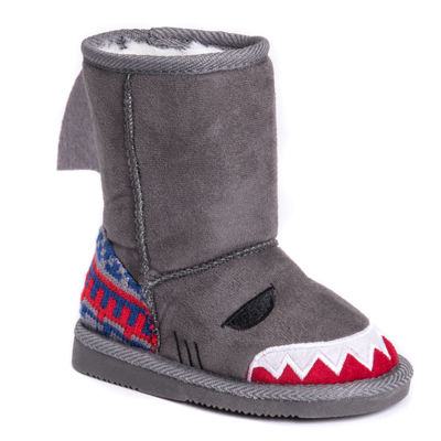 Muk Luks Finn Shark Unisex Winter Boots - Toddler