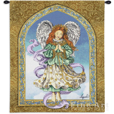 Angel in Prayer Wall Tapestry