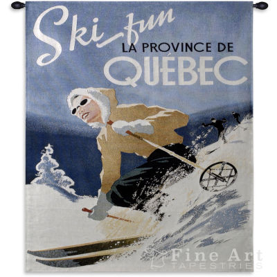 Ski Quebec Small Wall Tapestry