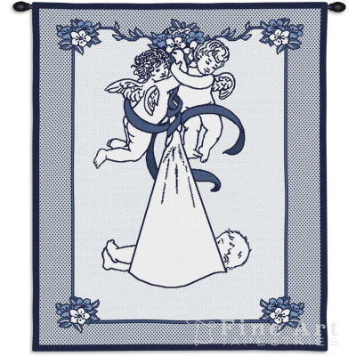 New Angel and Baby Boy Wall Tapestry