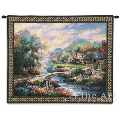 Country Bridge Wall Tapestry