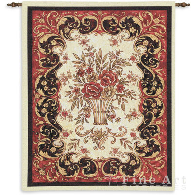 Red Tapestry Wall Tapestry