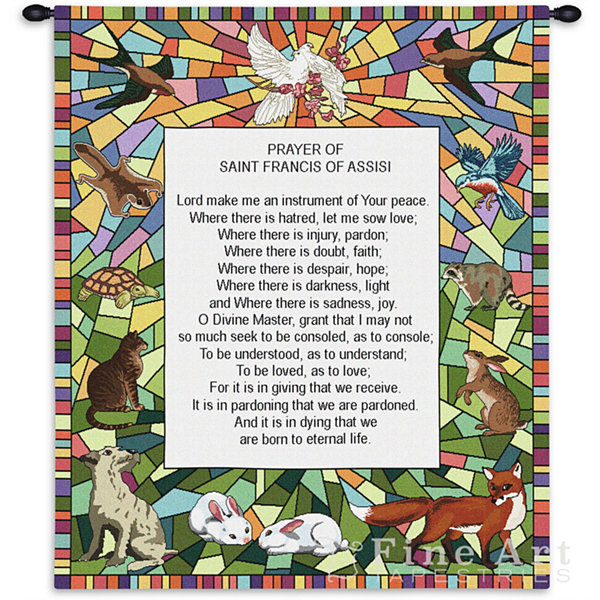 St Francis of Assisi Wall Tapestry