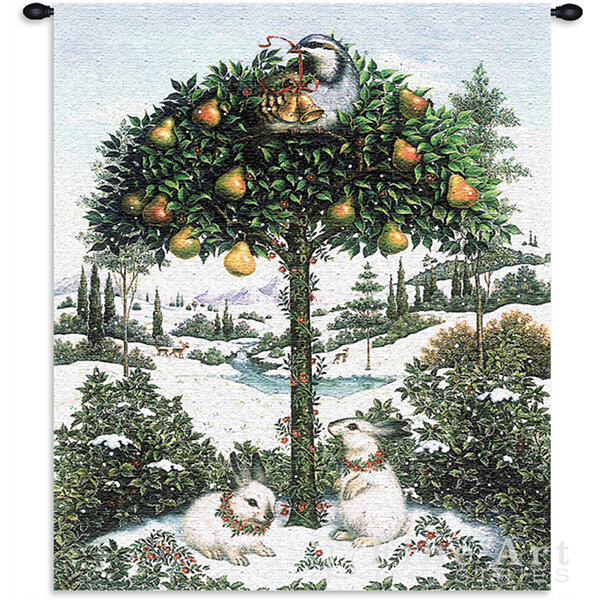 Partridge In Tree Wall Tapestry