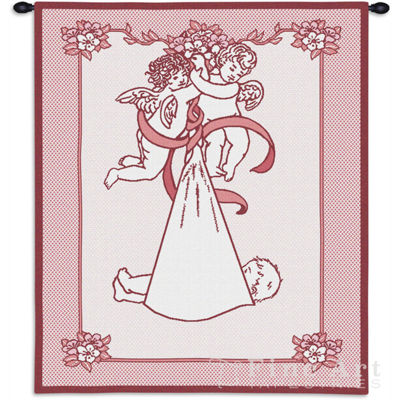 New Angel and Baby Girl Wall Tapestry