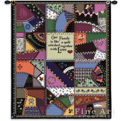Stitched With Love Wall Tapestry
