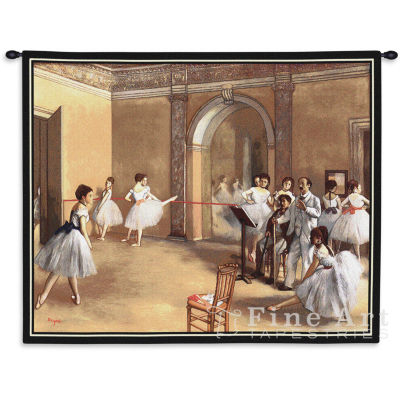 The Dance Foyer at the Opera on the rue Le Peletier Wall Tapestry
