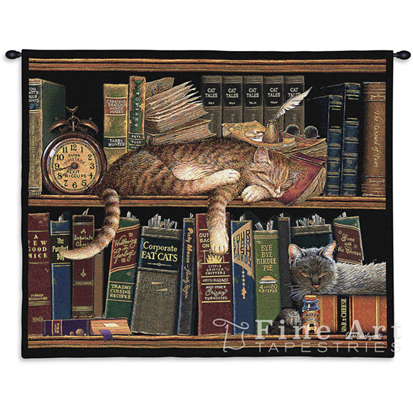 Remington the Well Read Wall Tapestry