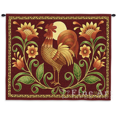 Sunrise Rooster Wall Tapestry